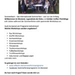 Sommerferienprogramm Flyer